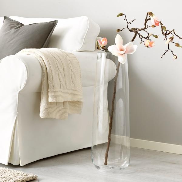BERÄKNA vase clear glass 65 cm