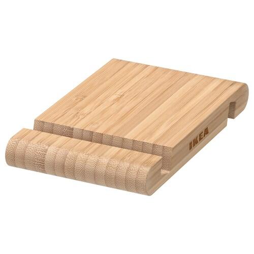 BERGENES holder for mobile phone/tablet bamboo 13 cm 8 cm
