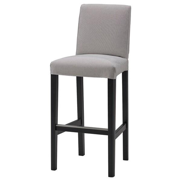 BERGMUND غطاء كرسي ذو مسند للظهر, Orrsta رمادي فاتح