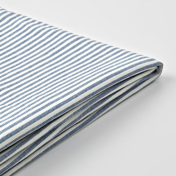 BERGMUND غطاء كرسي ذو مسند للظهر, Rommele أزرق غامق/أبيض
