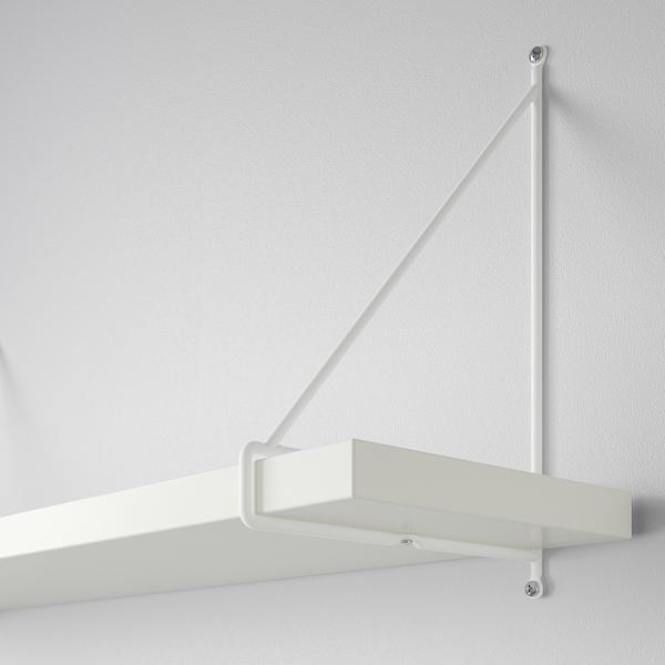 BERGSHULT / PERSHULT رف حائط, أبيض/أبيض, 120x20 سم