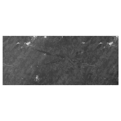 BERGSVIKEN واجهة دُرج, أسود شكل المرمر, 60x26 سم