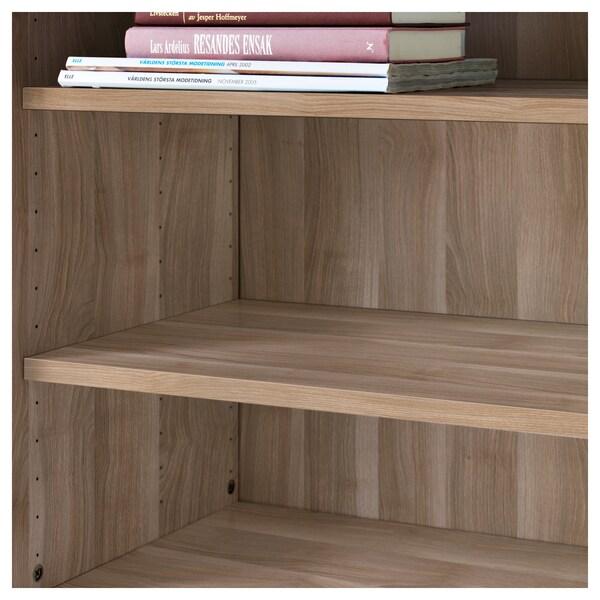 BESTÅ Shelf, grey stained walnut effect, 56x36 cm