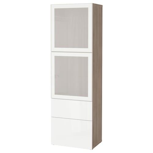 IKEA BESTÅ Storage combination w glass doors