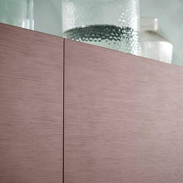 BESTÅ Storage combination with doors, black-brown/Hjortviken/Stubbarp brown, 180x42x74 cm