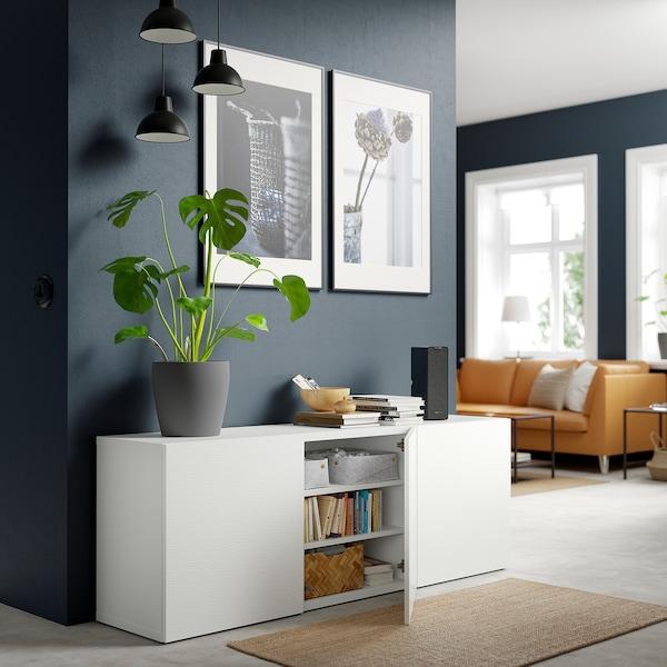 BESTÅ Storage combination with doors, white/Laxviken white, 180x42x65 cm