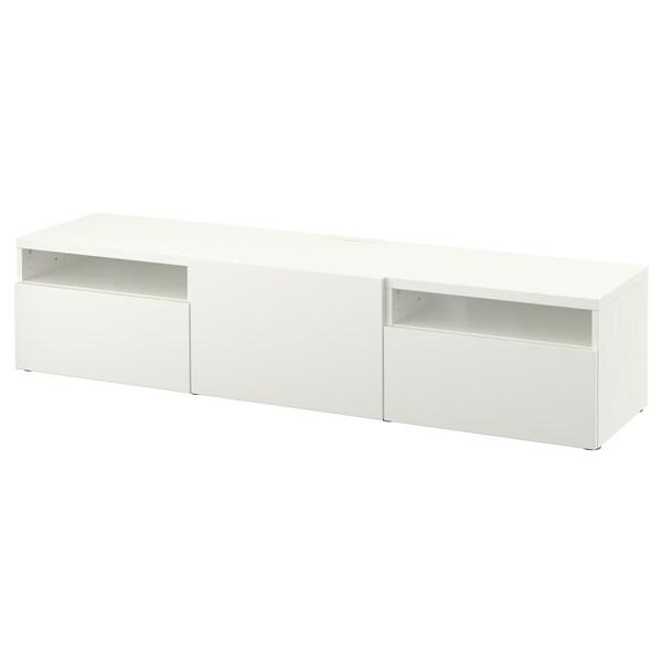 BESTÅ TV bench, white/Lappviken white, 180x42x39 cm