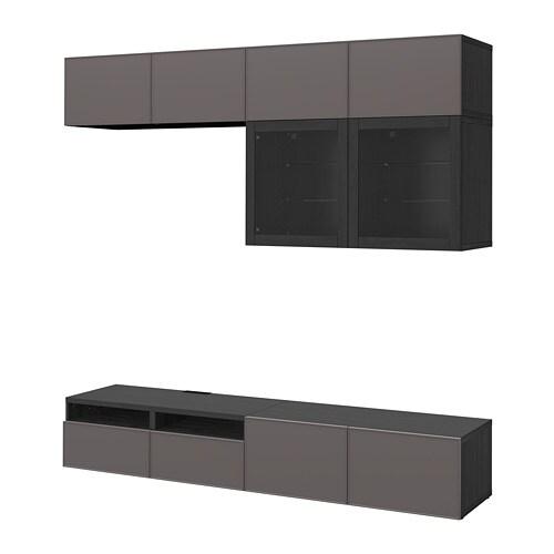 Best Tv Storage Combinationglass Doors Black Brown Grundsviken