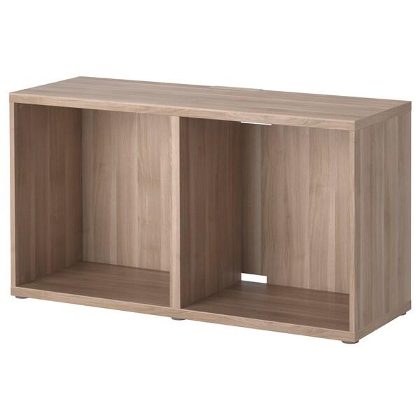 BESTÅ TV bench grey stained walnut effect 120 cm 40 cm 64 cm 50 kg