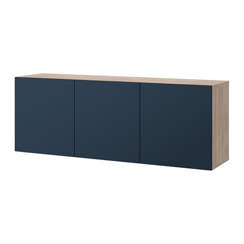 Best 197 Wall Mounted Cabinet Combination Grey Stained