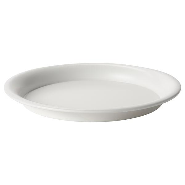 BIKARBONAT Saucer, in/outdoor white, 21 cm