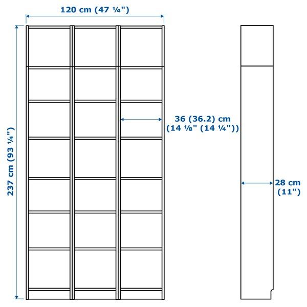 BILLY bookcase black-brown 120 cm 28 cm 237 cm 14 kg