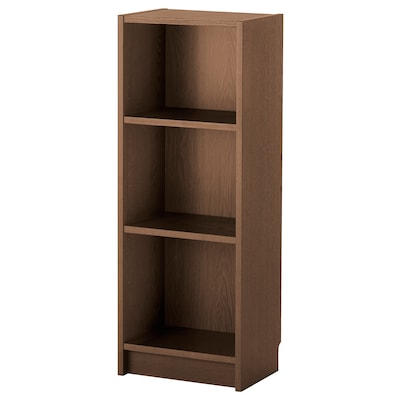 BILLY Bookcase, brown ash veneer, 40x28x106 cm