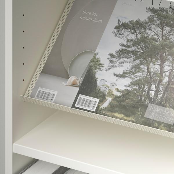 BILLY / BOTTNA Bookcase with display shelf, white/beige, 80x28x202 cm