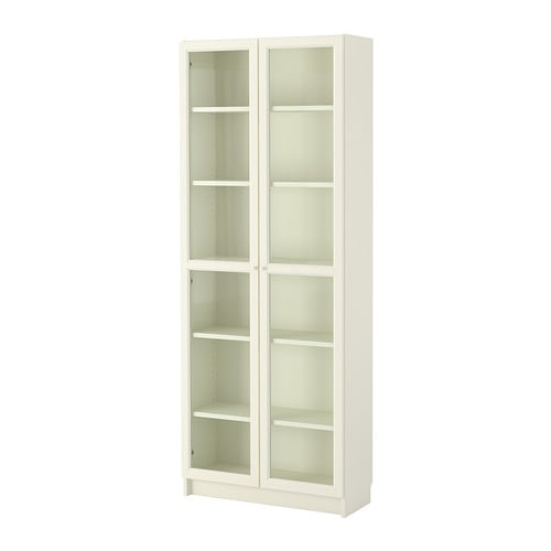 billy oxberg bookcase white ikea. Black Bedroom Furniture Sets. Home Design Ideas