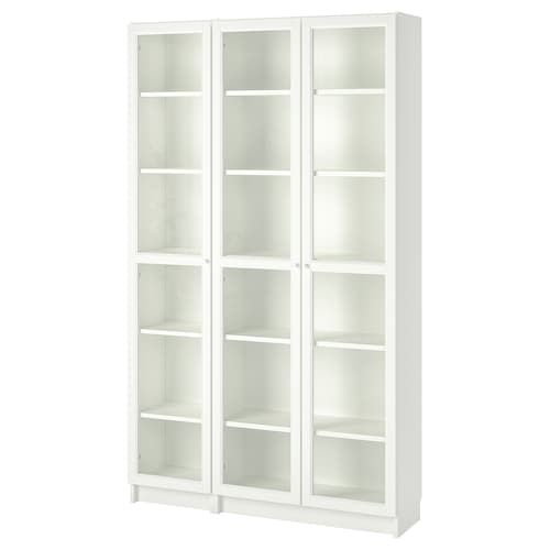 IKEA BILLY / OXBERG Bookcase with glass-doors