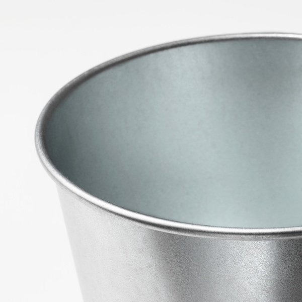 BINTJE Plant pot, galvanised, 9 cm