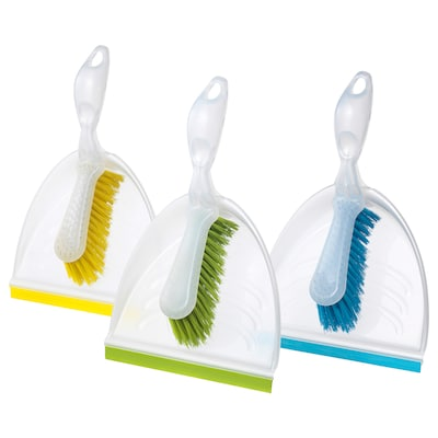 BLASKA Dust pan and brush, assorted colours