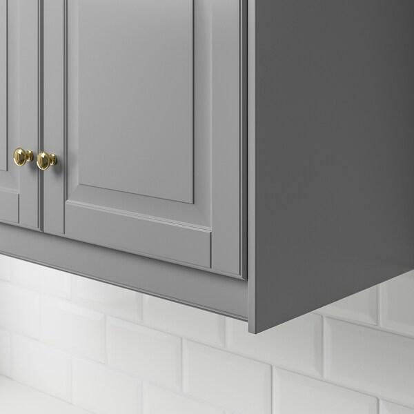 BODBYN Contoured deco strip/moulding, grey, 221 cm