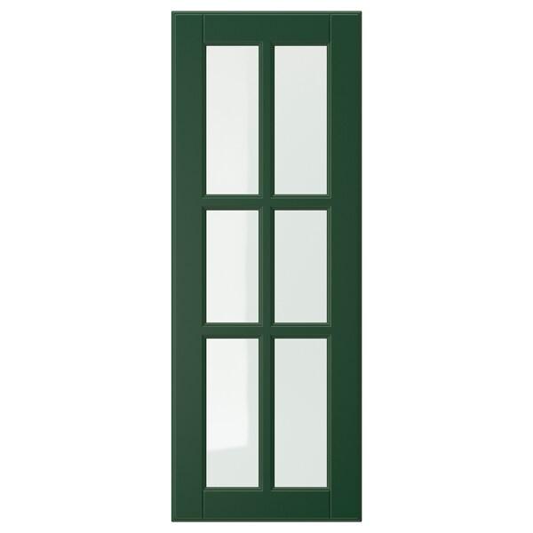 BODBYN باب زجاج, أخضر غامق, 30x80 سم
