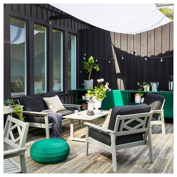 BONDHOLMEN Armchair, outdoor, grey