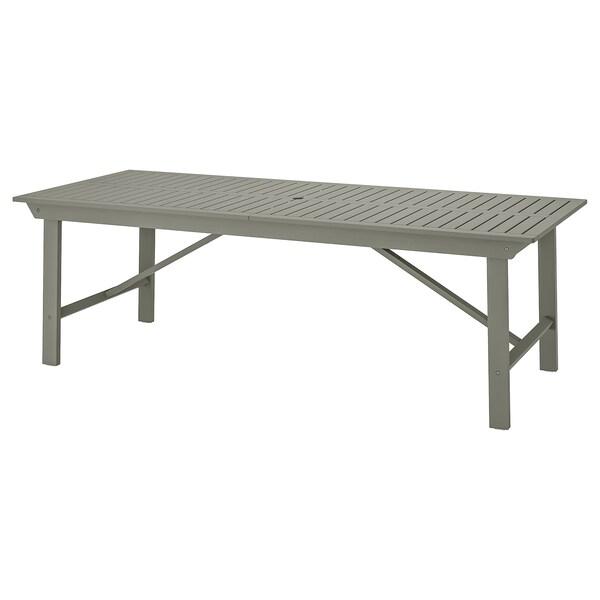 BONDHOLMEN Table, outdoor, grey, 235x90 cm