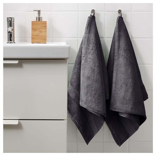 BREDASUND Bath towel, dark grey, 70x140 cm