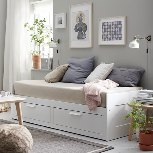 Day Bed.Brimnes Day Bed Frame With 2 Drawers White