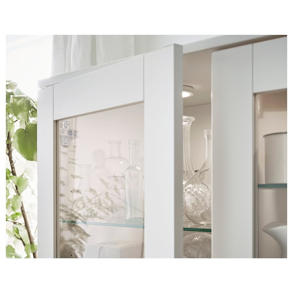 BRIMNES storage combination w glass doors white 160 cm 35 cm 190 cm
