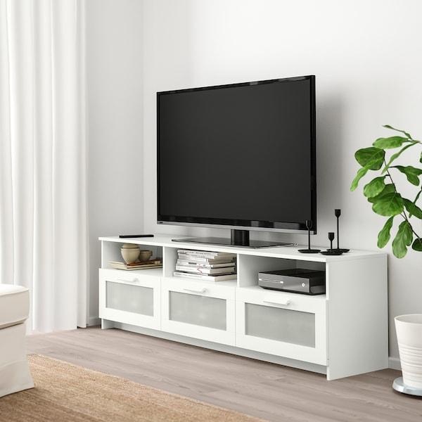 BRIMNES طاولة تلفزيون, أبيض, 180x41x53 سم