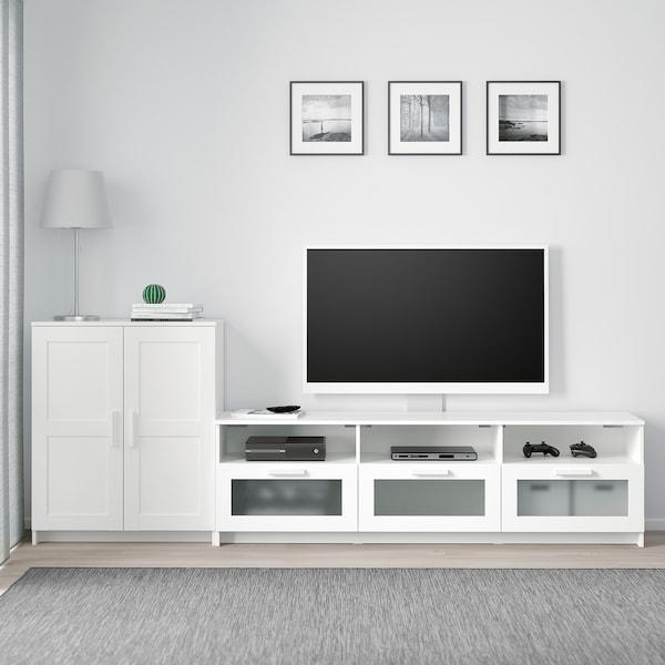 BRIMNES TV storage combination, white, 258x41x95 cm