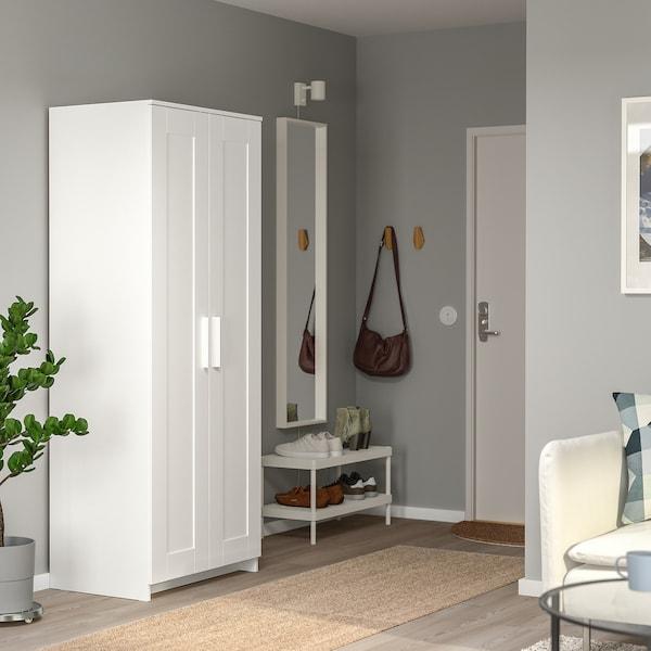 BRIMNES wardrobe with 2 doors white 78 cm 50 cm 190 cm
