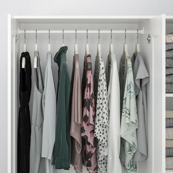 BRIMNES wardrobe with 3 doors white 117 cm 50 cm 190 cm