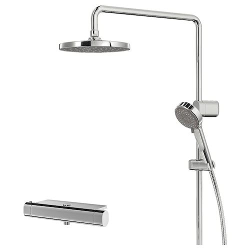 BROGRUND shower set with thermostatic mixer chrome-plated 150 mm 90 mm 200 mm 1500 mm 300 mm 570 mm 1170 mm