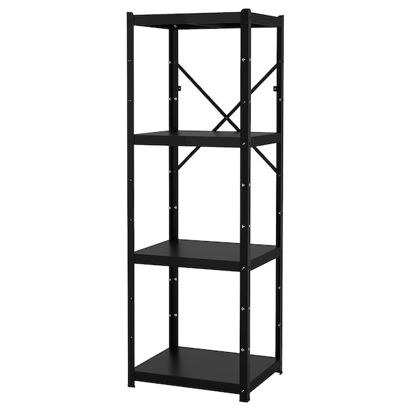 BROR Shelving unit, black, 65x55x190 cm