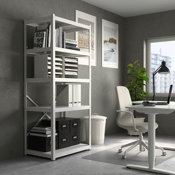 BROR shelving unit white 85 cm 55 cm 190 cm