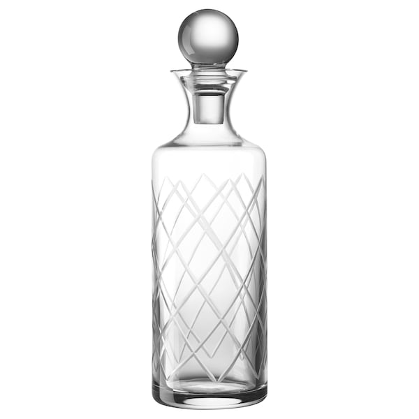 CHARMERA Carafe with stopper, clear glass, 0.8 l