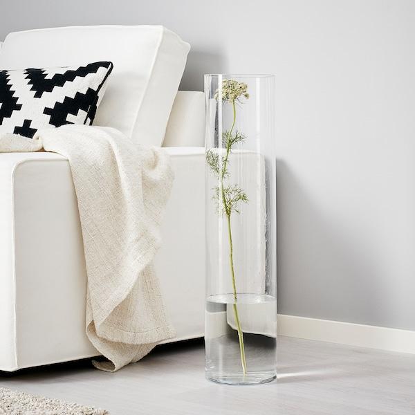 CYLINDER مزهرية, زجاج شفاف, 68 سم