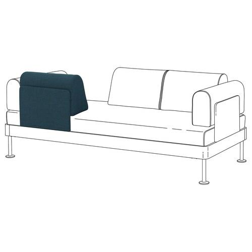 DELAKTIG backrest with cushion Hillared dark blue 56 cm 25 cm 33 cm