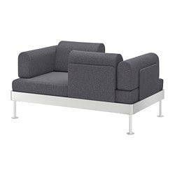 DELAKTIG 2-seat sofa, Gunnared medium grey