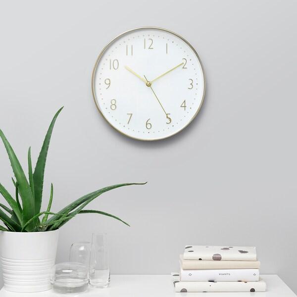 DILLADE Wall clock, gold-colour, 30 cm