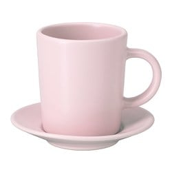 DINERA espresso cup and saucer, light pink