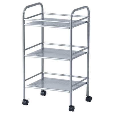 DRAGGAN Trolley, silver-colour, 41x32x75 cm