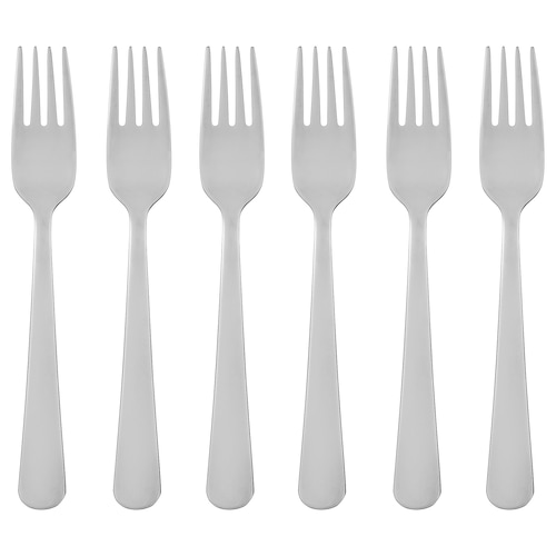 DRAGON salad/dessert fork stainless steel 16 cm 6 pack