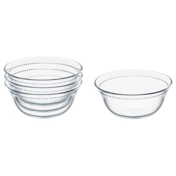 DRÖMBILD bowl clear glass 7 cm 15 cm 4 pack