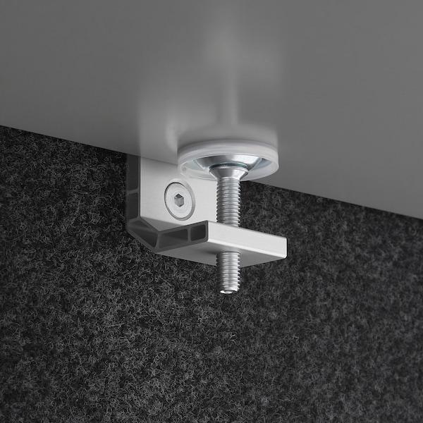 EILIF Screen for desk, dark grey, 140x48 cm