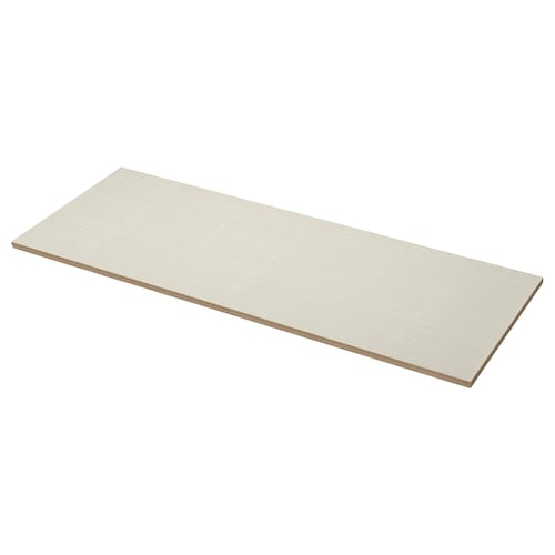 EKBACKEN worktop matt beige/patterned laminate 186 cm 63.5 cm 2.8 cm