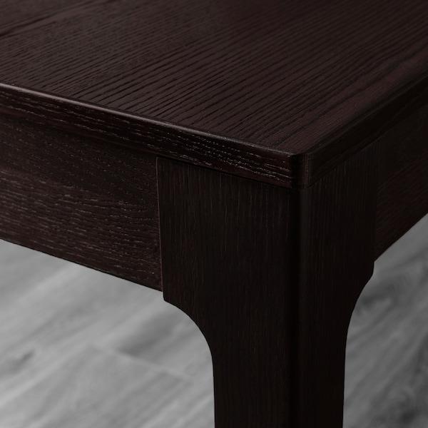 EKEDALEN / LEIFARNE طاولة و4 كراسي, بني غامق/أبيض, 120/180 سم
