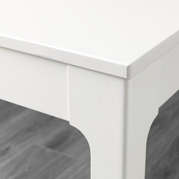 EKEDALEN / ODGER طاولة و4 كراسي, أبيض/أزرق, 120/180 سم