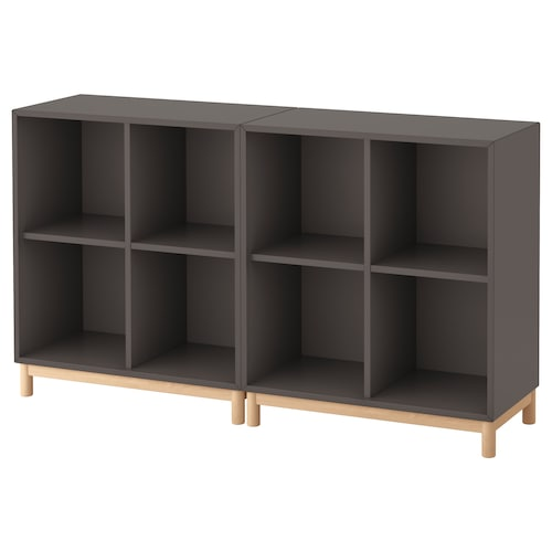 EKET cabinet combination with legs dark grey 70 cm 140 cm 35 cm 80 cm